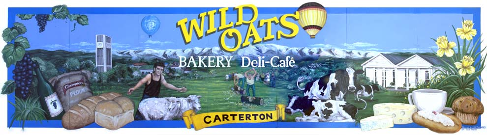 Wild Oats Cafe is located in Carterton, in the Wairarapa.